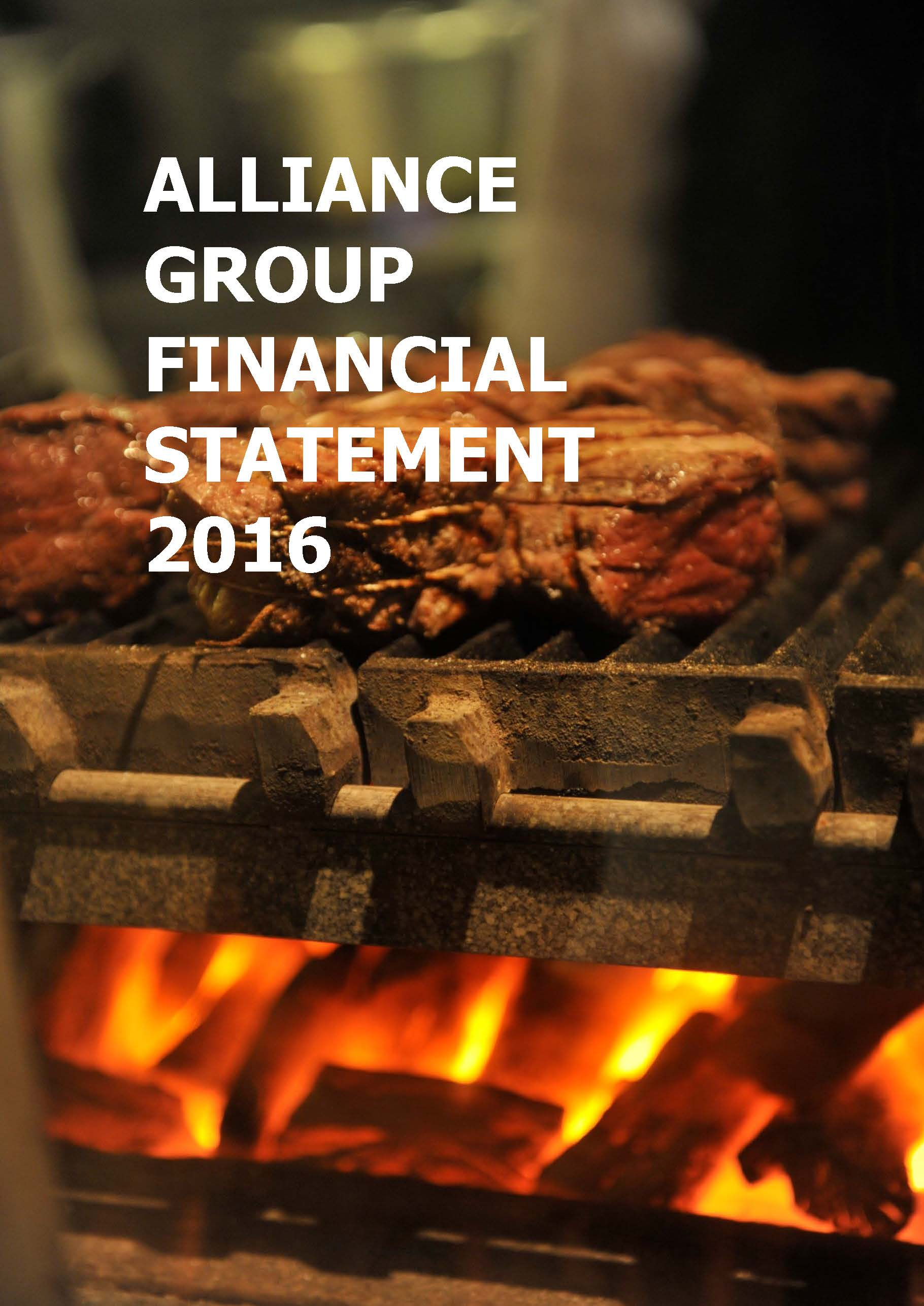 Alliance 2016 Financial Statement